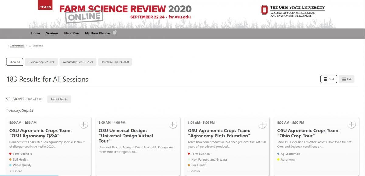Register at fsr.osu.edu