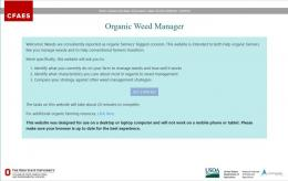 organic weed decision making tool