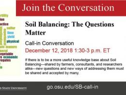 Ohio State Soil Balancing Call-in Dec 12, 2018