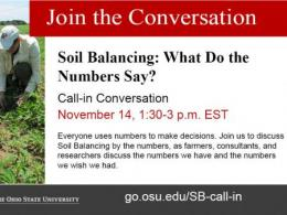 Ohio State Soil Balancing Call-in Nov 14, 2018