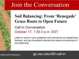 Ohio State Soil Balancing Call-in October 17